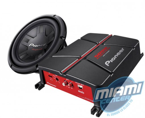 COMBO SUBWOOFER PIONEER GM-A3702+261S4-1