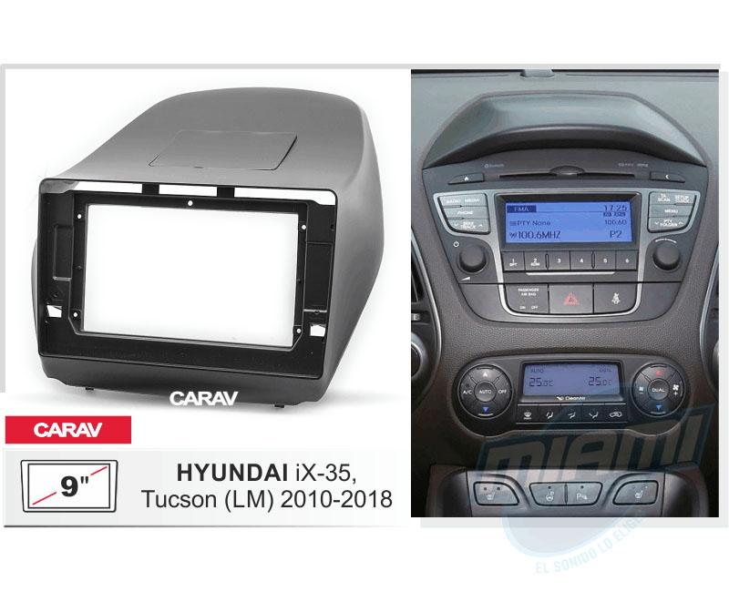 """Bisel radio Hyundai tucson de 9"""""""